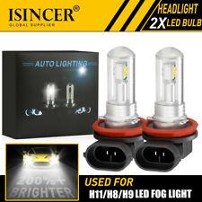 2x H11 LED Headlight Fog Light Super Bright Bulb  80W 4200LM HI/LO Beam 6000K CC