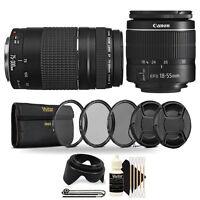 Canon EF-S 18-55mm Lens + 75-300mm Lens + 58mm Kit for Canon T6 T6i T7i Cameras