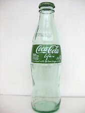 COKE COCA COLA STEVIA Green Glass Bottle Empty with Cap