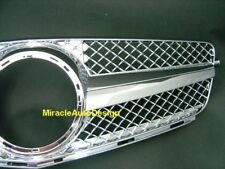 CHROME FRONT GRILLE FOR 2007-2014 MERCEDES BENZ W204 C-CLASS (STAR NOT INCLUDED)