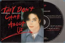 MICHAEL JACKSON THEY DON'T CARE ABOUT US CD SINGLE card sleeve