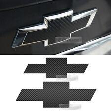 Front Rear Black Carbon Emblem Badge Decal Sticker For CHEVROLET 2015 2016 Cruze