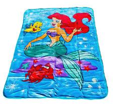 Disney Princess Little Mermaid Ariel, Sebastian, and Flounder Twin Size Blanket