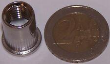 50 M10 Edelstahl A2 Nietmuttern Flachkopf 0,5-3mm