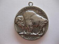 "Buffalo Nickel 1 3/4"" Medallion"