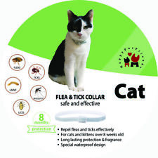 2 X Cat Flea And Tick Collar For Cat 8 Weeks Or Over 8 Months Same As Seresto