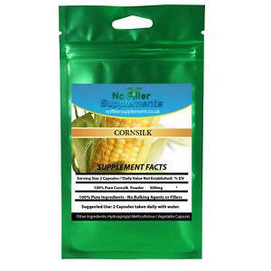 100% Pure Cornsilk Vegetable Capsules NoFillerSupplements Hyperoside