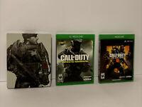 Call Of Duty Xbox One Bundle: Adv Warfare Steelbook, Infinit Warfare, BO 3