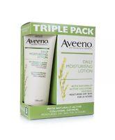 3 x Aveeno Daily Moisturising Cream Lotion 200ml Dry Skin Moisturiser