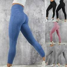 Damen Push Up Leggins Jogginghose Sport Gym Leggings Yoga Hose Fitness Stretch T