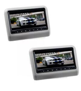 COPPIA 9 pollici Lettore DVD AV Auto poggiatesta Monitor LED USB SD UNIVERSALE
