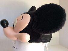 1994 MICKEY MOUSE Hard Plastic Rubber Nose Fleece Snapback Cap Hat