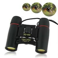 Folding Mini 30x60 Zoom Day Night Vision Binoculars Telescopes Outdoor Travel KJ