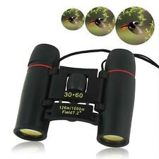 Folding Mini 30x60 Zoom Day Night Vision Binoculars Telescopes Outdoor Travel KJ