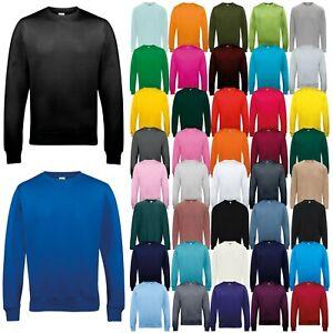 AWDis Men's Sweatshirt Crew Neck Jumper Casual Fashion Sweat TOP Pullover Jersey
