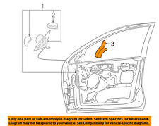 FORD OEM 05-07 Focus Door Side Rear View Mirror-Cover Left 5S4Z17K709BB