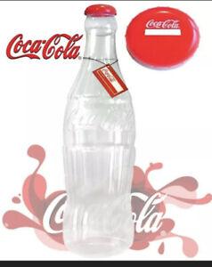 OFFICIAL 1ft (30cm) COCA-COLA PLASTIC MONEY COIN SAVING BOTTLE PIGGY BANK NEW