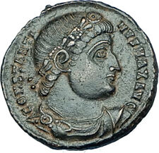 CONSTANTINE I the GREAT 330AD Authentic Ancient Roman Coin w SOLDIERS i65927
