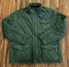 Polo Ralph Lauren Men's Diamond Quilted Leather Trim Jacket Green Size XXL $288