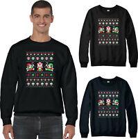 Super Mario Christmas Jumper, Funny Luigi Game Xmas Holidays Festive Gift Top