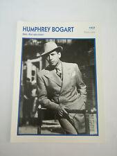 Humphrey Bogart - Fiche cinéma - Portraits de stars 13 cm x 18 cm