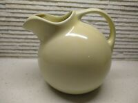 VTG Pottery pale Yellow Ball Pitcher w/ Ice Lip Ceramic Water Tea Jug