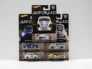 """1:64 Hot Wheels Car Culture """"Air Cooled"""" - 1960's Fiat 500D Modificado,Porsche 3"""