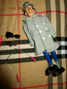 Vintage 1983 INSPECTOR GADGET MISSING PARTS WITH BOX DAMAGED 4 PARTS INCLUDED