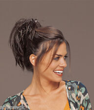 Short Straight Spiky Clip In, Tease Spiki, Synthetic Hair Piece, TressAllure