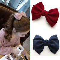 Oversized Bow Knotted Women Barrettes Hair Clip Ponytail Clip Hair Accessories