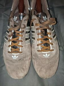 Adidas Driving Shoes Vintage Goodyear Tuscany Men's Size 11.5 Brown Suede