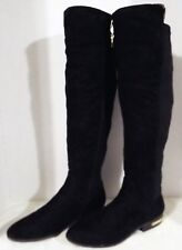Marc Fisher - Women's, Over The Knee Boot, Black, w Gold Trim - US 9 Medium