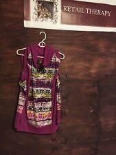 NWT Eckored Sweatshirt With Split Sleeves Purple L