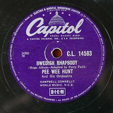 78rpm PEE WEE HUNT swedish rhapsody / the object of my affection