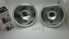 Ford Falcon AU XR6 XR8 7 inch Halogen High/Low Headlights Pair H4 Globes & Clips