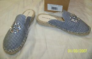 Women's Patricia Green Slip On Mule Shoes - Size 37 - US 6 - Black Gingham Glam