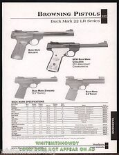 2002 BROWNING Buck Mark Bullseye, Challenge, Standard, Target Pistol AD