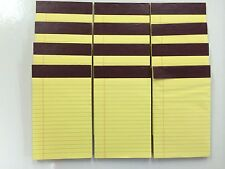 "12 Legal Pads 5""x8"" Writing Pad 50 Sheets Each Pad Canary Ruled Writing Pad"