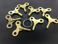 Antique Clock Key Set of 8  Sizes # 1 -8  Made of Brass in the USA