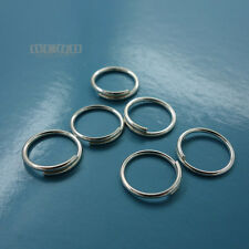 6PC Solid Sterling Silver 11mm 19 Gauge/0.9mm Split Jump Ring Connector #33125