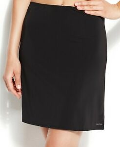 Calvin Klein Womens Icon Half Slip Black L