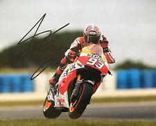 Marc Marquez signed Moto GP 10x8 photo Image G UACC Registered Dealer