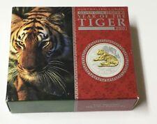 2010 Australia Gilt $1 Year Of The Tiger 1oz .999 Silver Coin. Bu Condition.