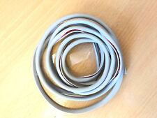 2M Car Door Edge Guard Protector GREY U Profile Roll Moulding Trim Strip UK