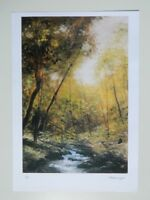 Litho justifiée 66/100 signée Christiane MEUNIER-CLISSON paysage boisé