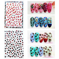 3D Nail Stickers Cute Animals Self-Adhesive Decals Nail Art Transfer Decoration