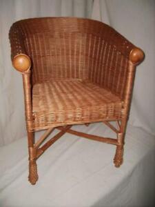 Rattan-Sessel Weidensessel Korb-Sessel Rattan Chair Knopfsessel Armleh. Lounge