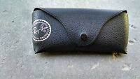 Ray Ban Black Leather Case for Aviator Sunglasses Snap Travel Carrying Brand New