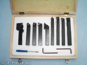 Drehstahl Set HM mit Wendeplatten 9-teilig 16 x 16 mm Drehmeißel NEU