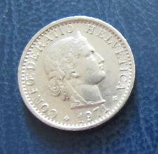 Münze 20 Rappen Schweizer Franken 1971 aus Umlauf gültiges Zahlungsmittel